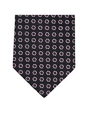 Black Neat Flower Silk Tie