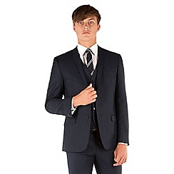 Red Herring - Navy twill slim fit 2 button jacket