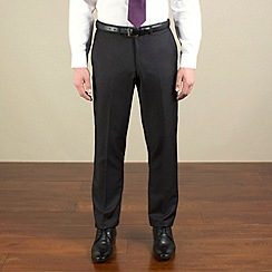 Red Herring - Dark charcoal semi-plain slim fit trouser