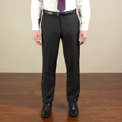 Red Herring - Dark charcoal semi-plain slim fit trouser