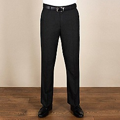 Karl Jackson - Charcoal plain weave tailored fit trouser