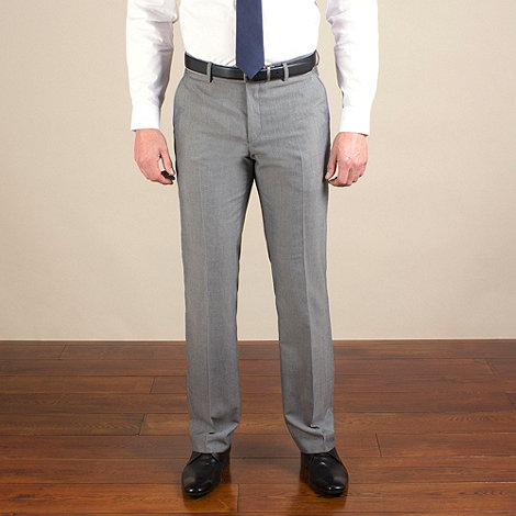 Karl Jackson - Silver grey semi-plain tailored fit trouser