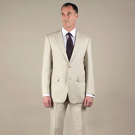 Karl Jackson - Stone linen regular fit 2 button jacket