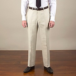 Karl Jackson - Stone linen regular fit trouser
