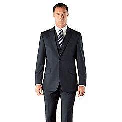 J by Jasper Conran - Navy semi-plain tailored fit 2 button suit