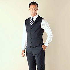J by Jasper Conran - Navy semi plain 4 button waistcoat