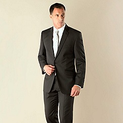 J by Jasper Conran - Black stripe tailored fit 2 button suit