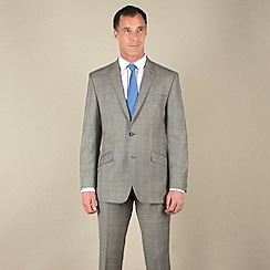 J by Jasper Conran - Grey pow with lilac check suit jacket