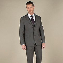 Stvdio by Jeff Banks - Charcoal mohair-look tailored fit 2 button 3 piece suit