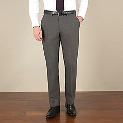 Stvdio by Jeff Banks - Charcoal mohair-look tailored fit trouser