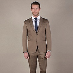 Stvdio by Jeff Banks - Camel cotton slim fit 2 button jacket