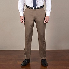 Stvdio by Jeff Banks - Camel cotton slim fit trouser