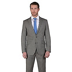 Stvdio by Jeff Banks - Charcoal birdseye 2 button tailored fit jacket