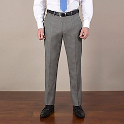 Stvdio by Jeff Banks - Charcoal birdseye tailored fit trouser