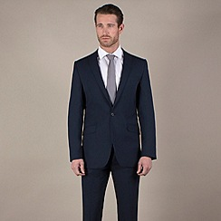 Stvdio by Jeff Banks - Blue plain weave tailored fit 1 button suit