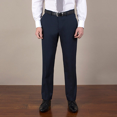 Stvdio by Jeff Banks - Blue plain weave tailored fit trouser