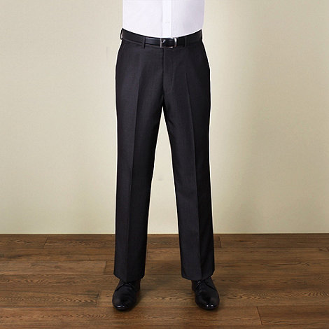 Karl Jackson - Charcoal fine stripe regular fit trouser