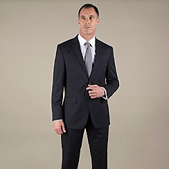 Jeff Banks - Navy stripe regular fit 2 button suit