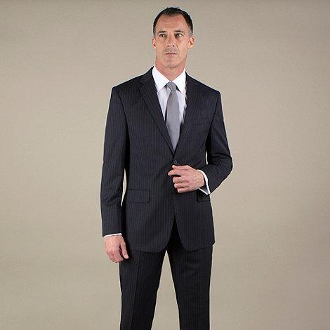 Jeff Banks - Navy stripe regular fit 2 button jacket