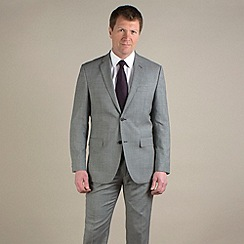 Jeff Banks - Grey semi-plain regular fit 2 button suit