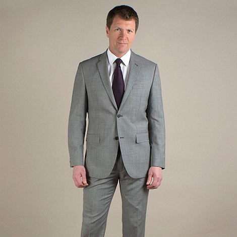 Jeff Banks - Grey semi-plain regular fit 2 button jacket