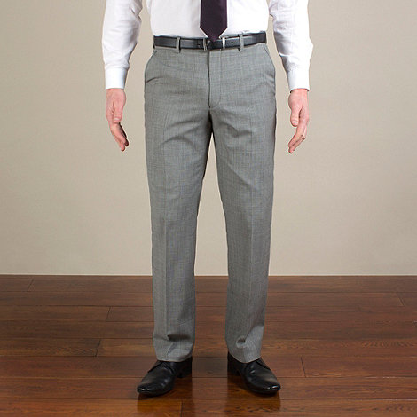 Jeff Banks - Grey semi-plain regular fit trouser