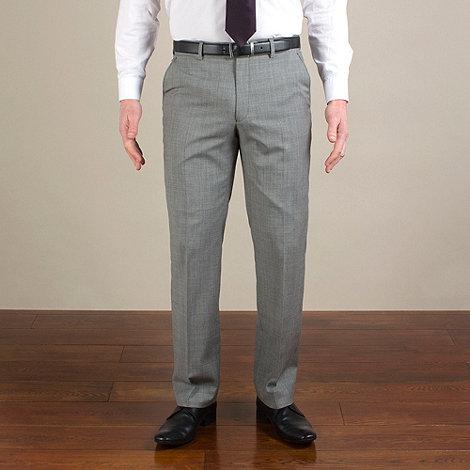 Jeff Banks - Grey semi-plain regular fit trouser
