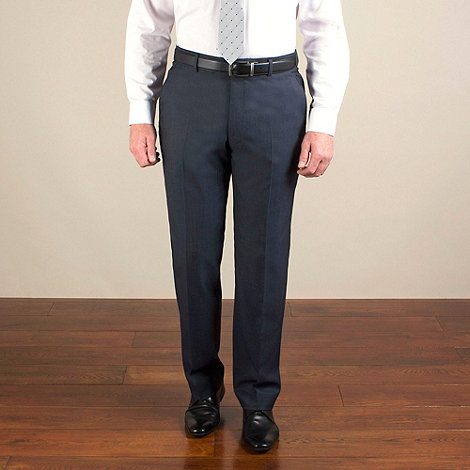 Jeff Banks - Blue semi-plain regular fit trouser