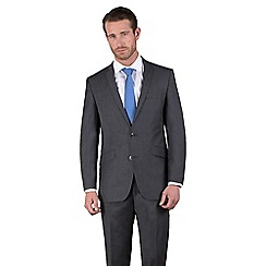Ben Sherman - Charcoal semi-plain slim fit 2 button suit