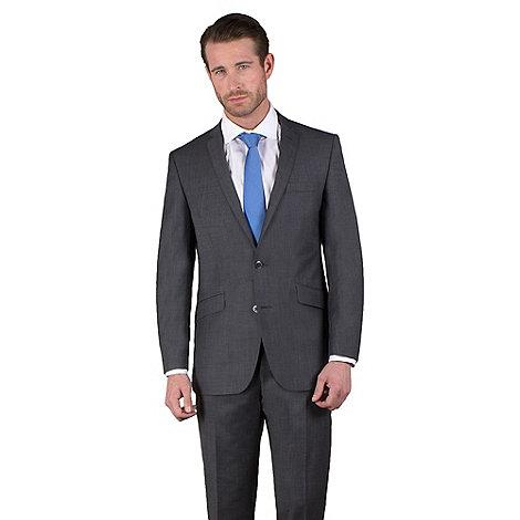 Ben Sherman - Charcoal semi-plain slim fit 2 button jacket