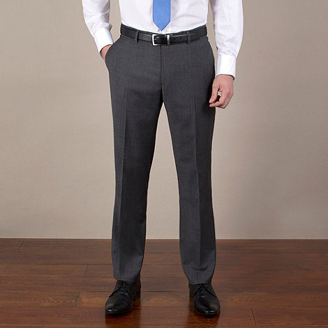 Ben Sherman - Charcoal semi-plain slim fit trouser