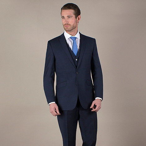 Ben Sherman - Navy pick and pick 2 button suit jacket