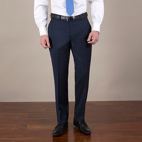 Ben Sherman - Navy pick and pick suit trouser