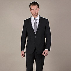 Ben Sherman - Black pindot 2 button suit jacket