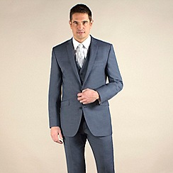 Ben Sherman - Light blue semi-plain slim fit 2 button suit