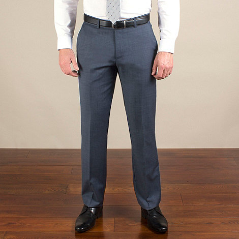 Ben Sherman - Light blue semi-plain slim fit trouser