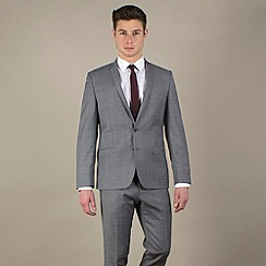 Ben Sherman - Grey/red prince of wales check slim camden fit 2 button suit