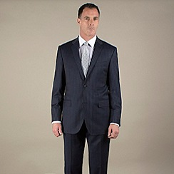Jeff Banks - Blue stripe 2 button luxury tailoring suit jacket
