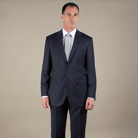 Jeff Banks - Blue stripe 2 button luxury tailoring suit jacket