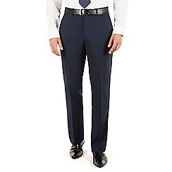 Jeff Banks - Navy plain weave regular fit travel suit trousers