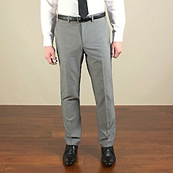 Red Herring - Silver grey semi-plain slim fit trouser