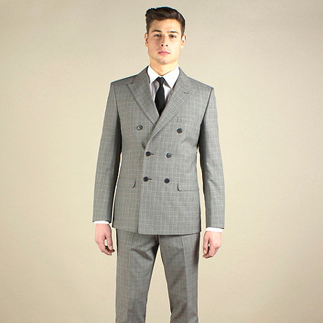 Red Herring - Taupe check slim fit 2 button jacket