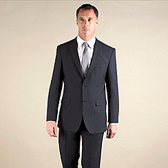 Karl Jackson - Blue semi-plain regular fit 2 button suit