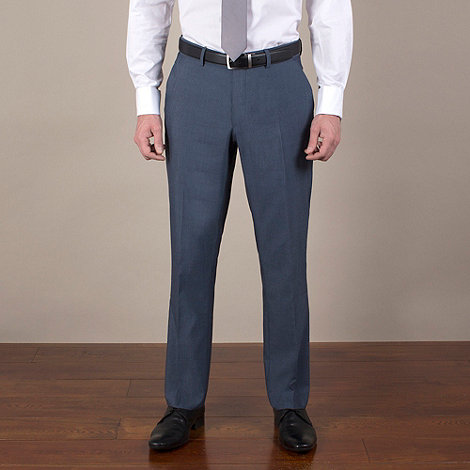 Karl Jackson - Blue semi-plain tailored fit trouser
