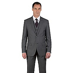 Jeff Banks - Grey tonic regular fit 2 button black label 3 piece suit