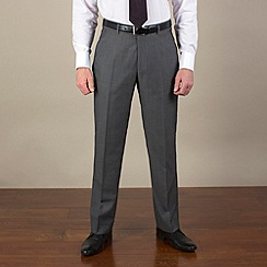 Jeff Banks - Grey tonic regular fit black label suit trouser