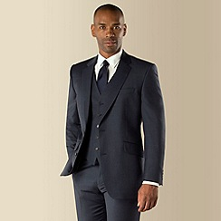 Centaur Big & Tall - Big & tall blue semi-plain regular fit 2 button 3 piece suit