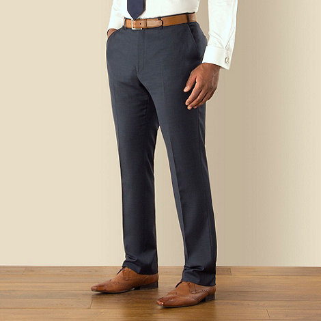 Centaur Big & Tall - Big & tall blue semi-plain regular fit trouser