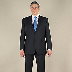Centaur Big & Tall - Navy stripe 2 button washable suit