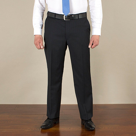 Centaur Big & Tall - Big & tall navy stripe regular fit trouser